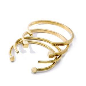 SOKO Mixed Shapes Stacking Cuff Bracelets